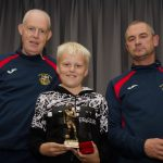 EE 10/10/2016 SPORT - U12 A Player of the Year Richard Cullinane pictured with coaches Derek M Ellerick and Noel Hurley at the Lakewood AFC Awards Night in the Oriel House Hotel, Ballincollig. Picture: Howard Crowdy