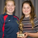 EE 10/10/2016 SPORT - Coach Michelle McNally pictured presenting Amy Lynch with the Girls U16 Player of the Year Award at the recent Lakewood AFC Awards Night in the Oriel House Hotel, Ballincollig. Picture: Howard Crowdy