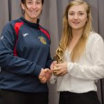 EE 10/10/2016 SPORT - Coach Catherese Fahey presents Christine Coffey with the Schoolgirls U18 Player of the Year Award at the annual Lakewood AFC Awards Night in the Oriel House Hotel, Ballincollig. Picture: Howard Crowdy
