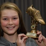 EE 10/10/2016 SPORT - Eabha O'Mahony, winner of the Girls Golden Boot Award for 2015/16 pictured at the recent Lakewood AFC Awards Night in the Oriel House Hotel, Ballincollig. Picture: Howard Crowdy