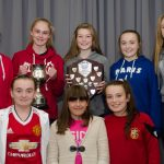 EE 10/10/2016 SPORT - Members of the Lakewood U14 Schoolgirls team, cup and league winners last season, pictured at the recent Lakewood AFC Awards Night in the Oriel House Hotel, Ballincollig. Picture: Howard Crowdy