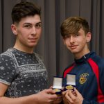 EE 10/10/2016 SPORT - Cork U16 players Dylan Foley and Jack Allen pictured with their medals at the Lakewood AFC Awards Night in the Oriel House Hotel, Ballincollig. Picture: Howard Crowdy