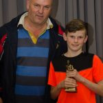 EE 10/10/2016 SPORT - U12 Premier Player of the Year Award winners Michael Murphy pictured with coach Martin Neary at the recent Lakewood AFC Awards Night in the Oriel House Hotel, Ballincollig. Picture: Howard Crowdy