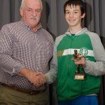 EE 10/10/2016 SPORT - Noal Mullins pictured presenting Jonah Smyth with the U13B Player of the Year Award at the recent Lakewood AFC Awards Night in the Oriel House Hotel, Ballincollig. Picture: Howard Crowdy