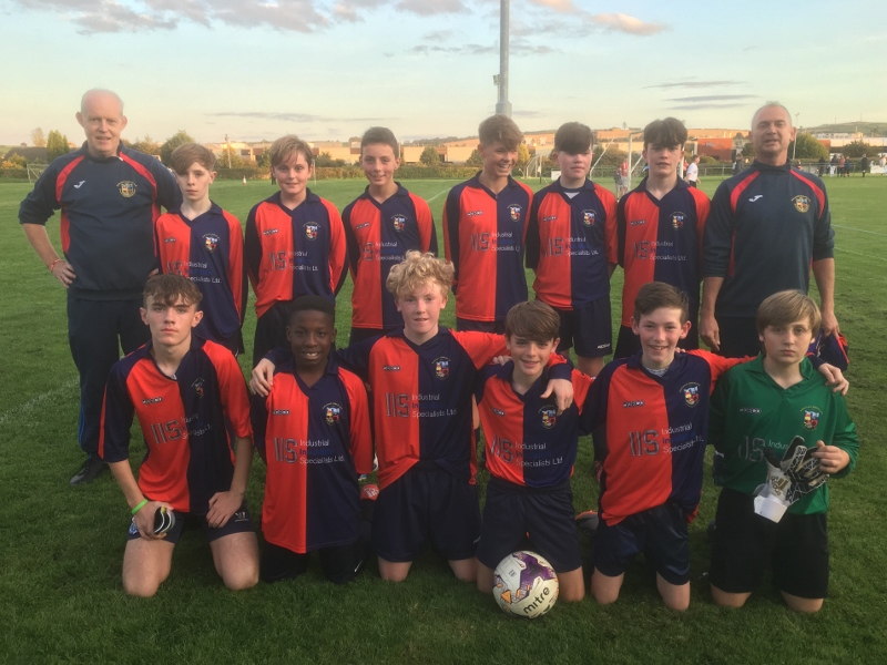 U14s Come out on top in cup Local Derby
